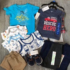 Carter's baby boy summer clothes bundle NWT shorts